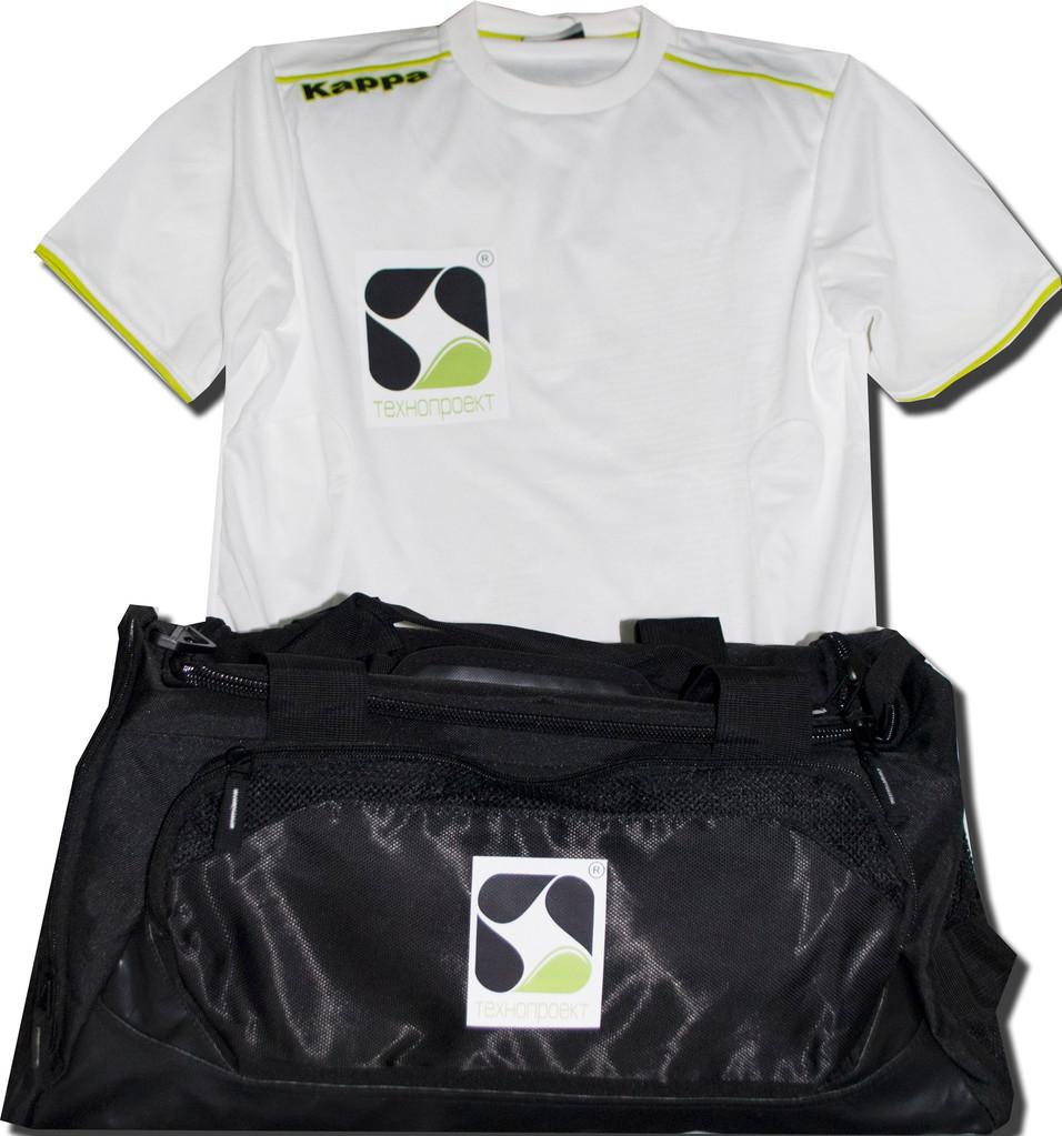 Нанесение логотипа на майку и сумку (термоперенос)