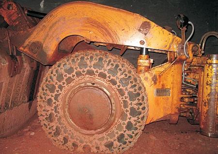 Schaufellader EIMCO 912-LHD. Foto: Bergbau- und Stadtmuseum Weilburg