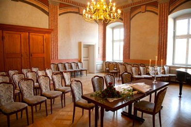 Im Alten Rathaus – hier der Raum Nassau – hat heute die Musikschule Oberlahn ihr zuhause (Foto: www.weilburg.de)