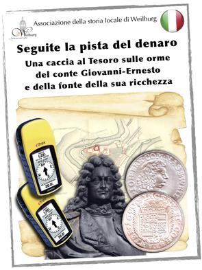 Die Geo-Schatzsuche kann jetzt auch in italienisch gebucht werden.