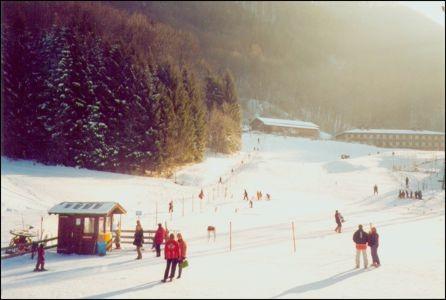 Bibilift am 18. Januar erstmals in Betrieb.  Lange mussten die Kinder in dieser Saison auf den Schnee warten.