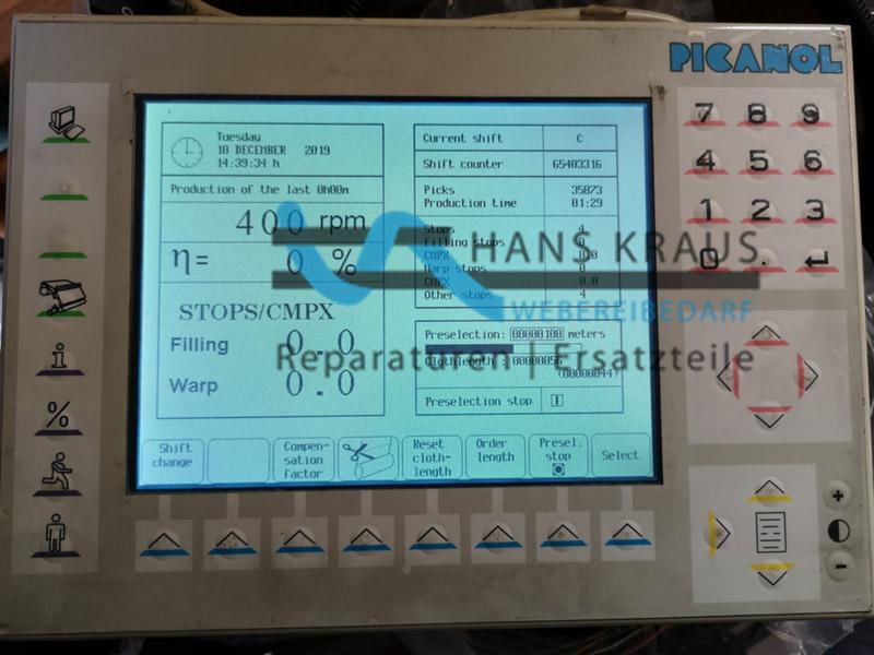 Picanol BE151817 LCD Display