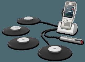 Philips Vergader kit met één of meerdere microfoons en afstand bediening.