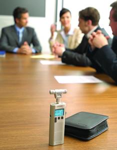 Digitaal dicteren vergadering
