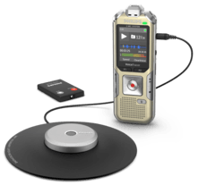 Direct naar Philips Voicerecorder met microfoon