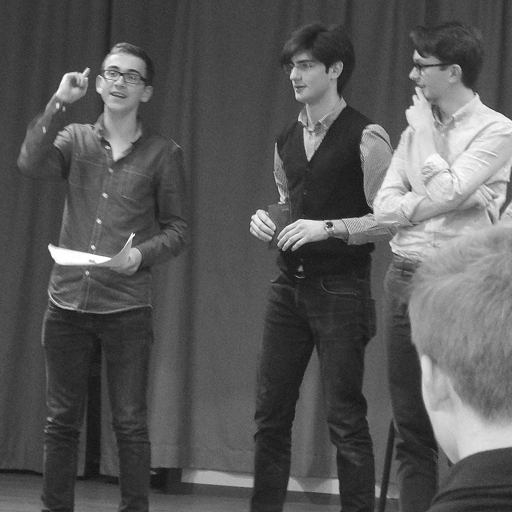 Julien, Gabriele et Louis