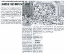 Zeitungsausschnitt der Lippischen Landesschau zum 5. AOK Firmenlauf in Lippe vom 14.02.2014