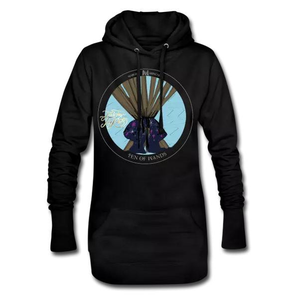 Mit diesem Hoody-Tarot-Kleid hast du ordentlich Holz vor der Hütte. Aber nicht nur das. Dieser Talisman bündelt deine Energien auf einen ganz bestimmten Punkt. Bestimme selbst.