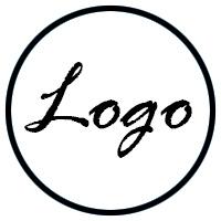 Foto logo negro con fondo blanco
