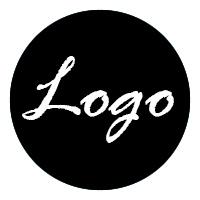 Foto logo blanco sobre fondo negro