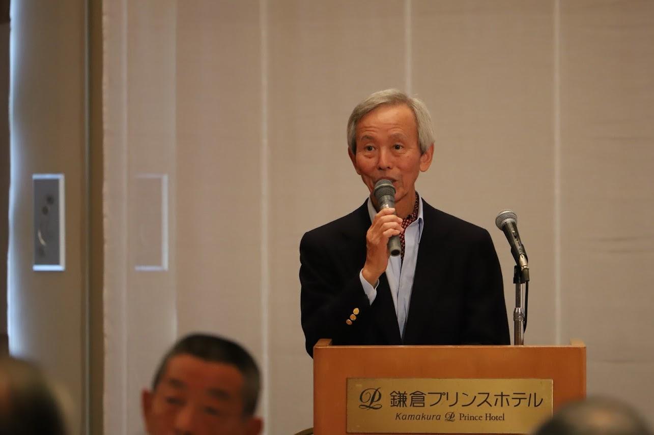 懇親会藤吉アナ(テレビ東京OB)の司会で始まる