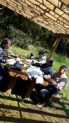 鎌倉山の夫婦池でお弁当