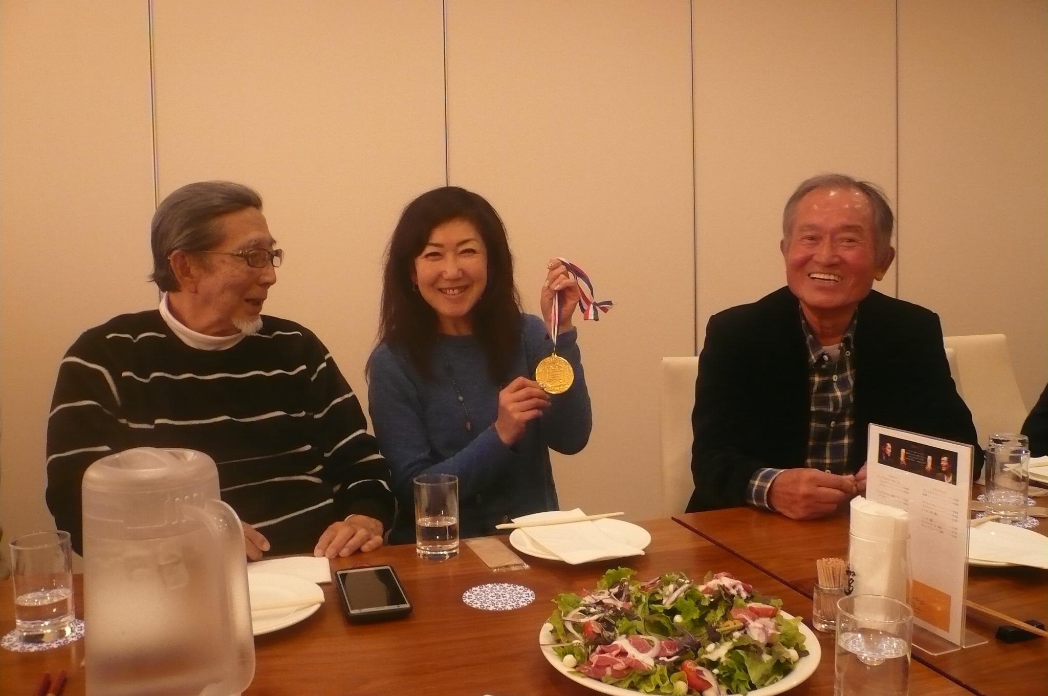 発表前は富田さん優勝ベスグロの田中さんが2位と盛り上がる