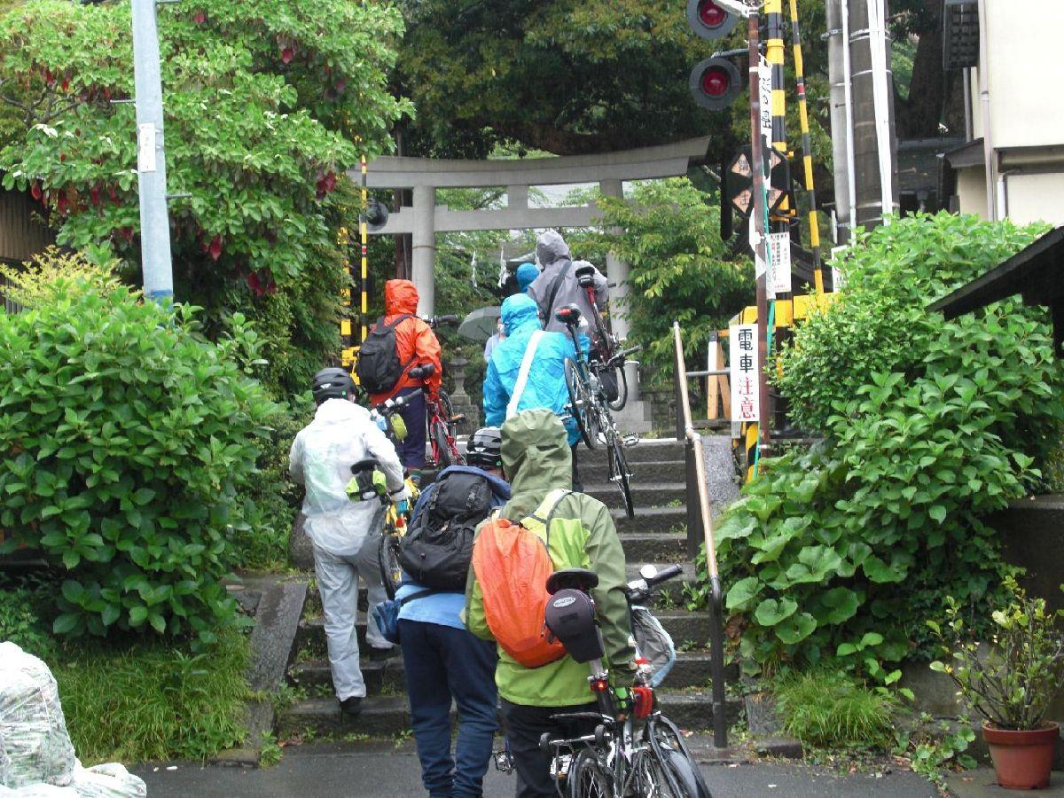 自転車は階段も軽くクリア