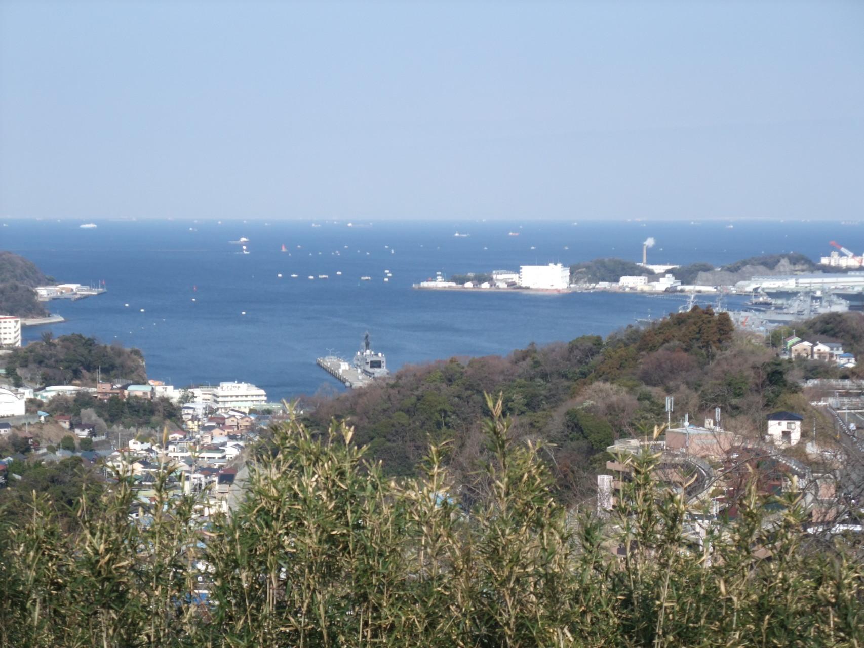 展望台から望む長浦湾!