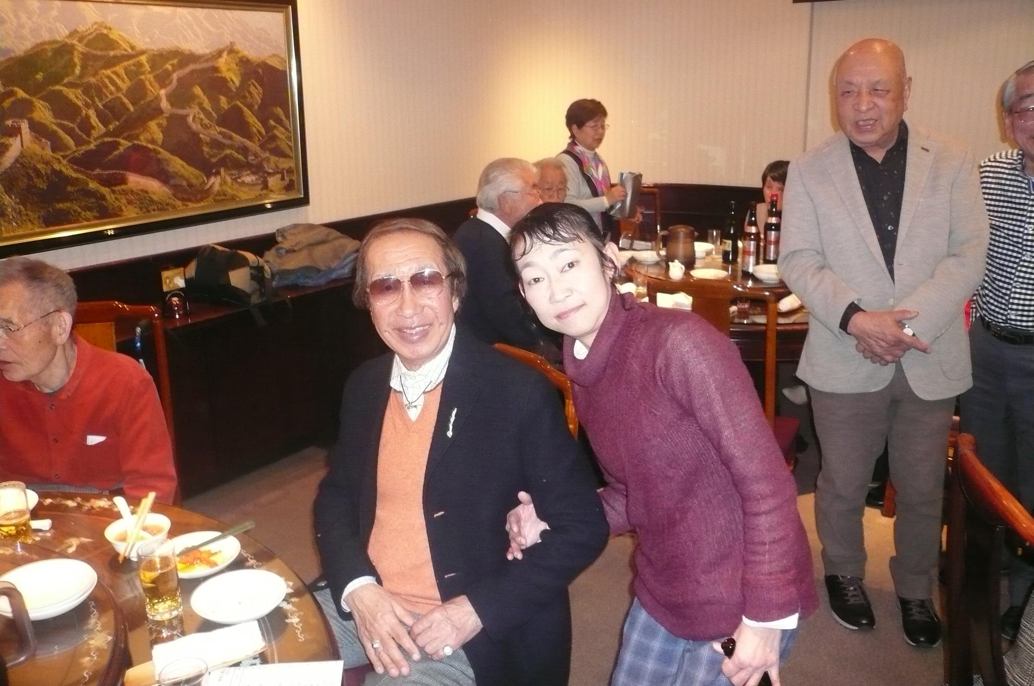 大島先輩と小原さん。湘南学園同士にびっくり
