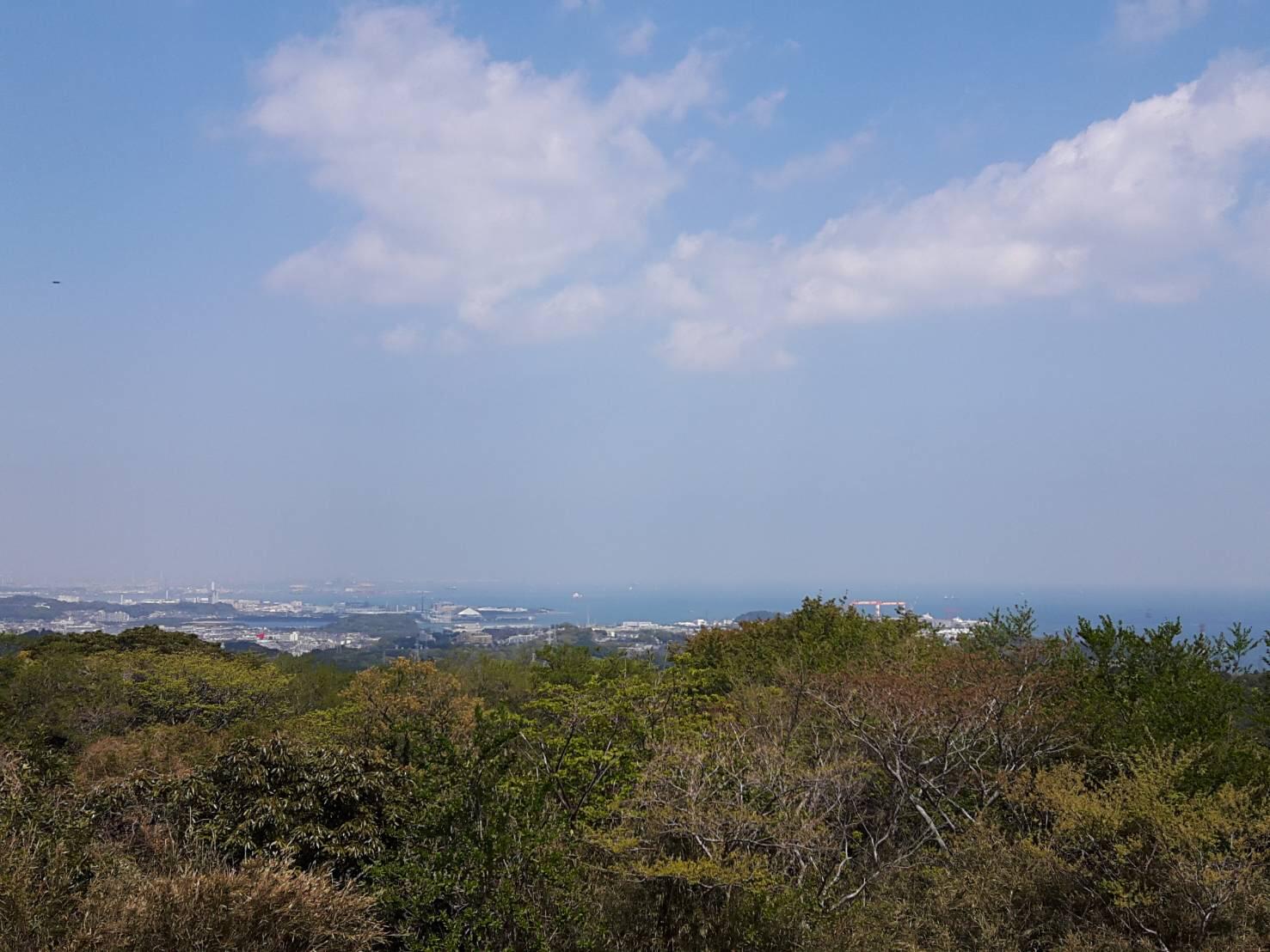 山頂からは東京や横浜の絶景が