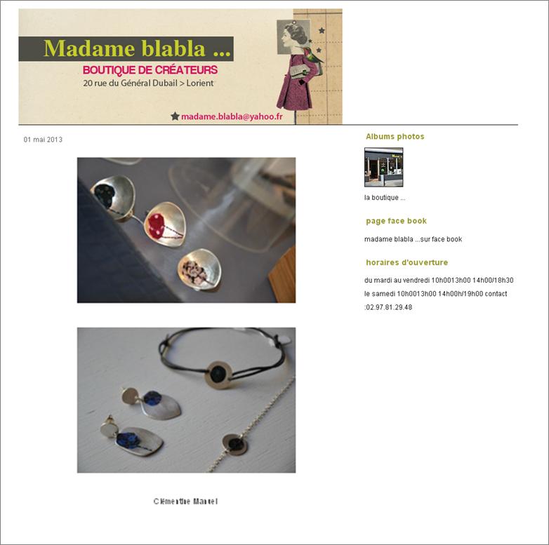 Madame Blabla/ 1er mai 2013