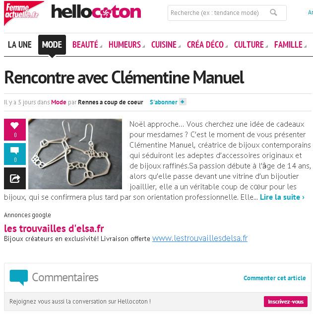 Hellocoton/ Rennes à coup de coeur