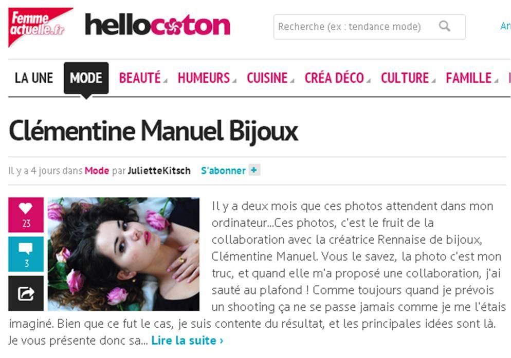 Hellocoton/ Juliette