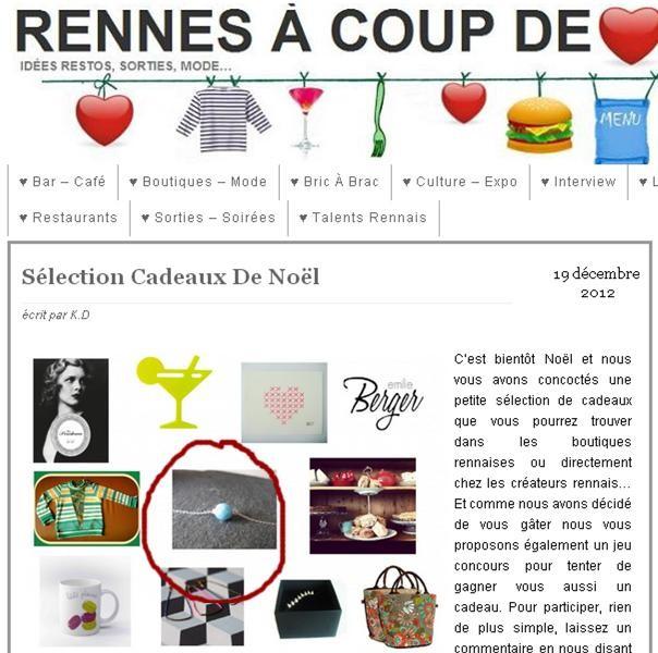 Rennes à coup de coeur/ jeu concours 19 décembre 2012