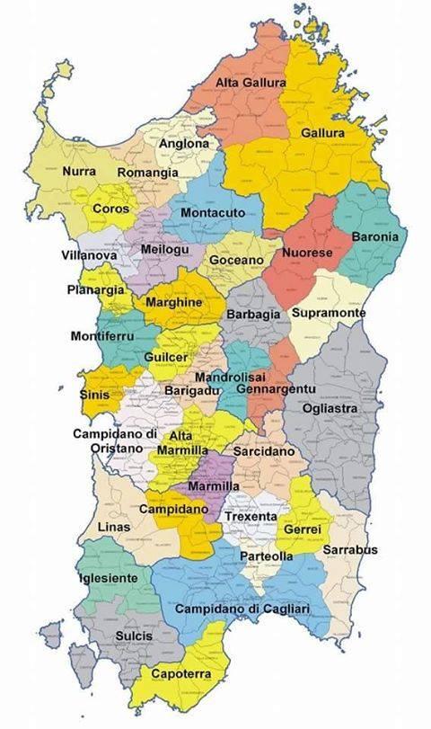 Arbatax Cartina Geografica.Sardegna Cartina Utile Mari Strade Citta Pianeta Alghero