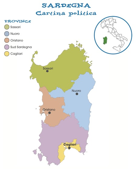 Bosa Cartina Geografica.Sardegna Cartina Utile Mari Strade Citta Pianeta Alghero