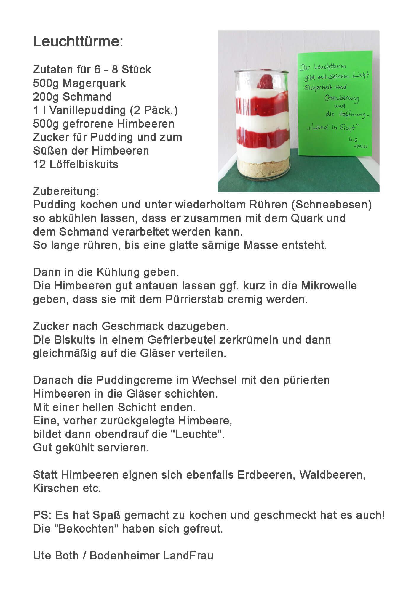 13d Rezept_Leuchttürme, LandFrau