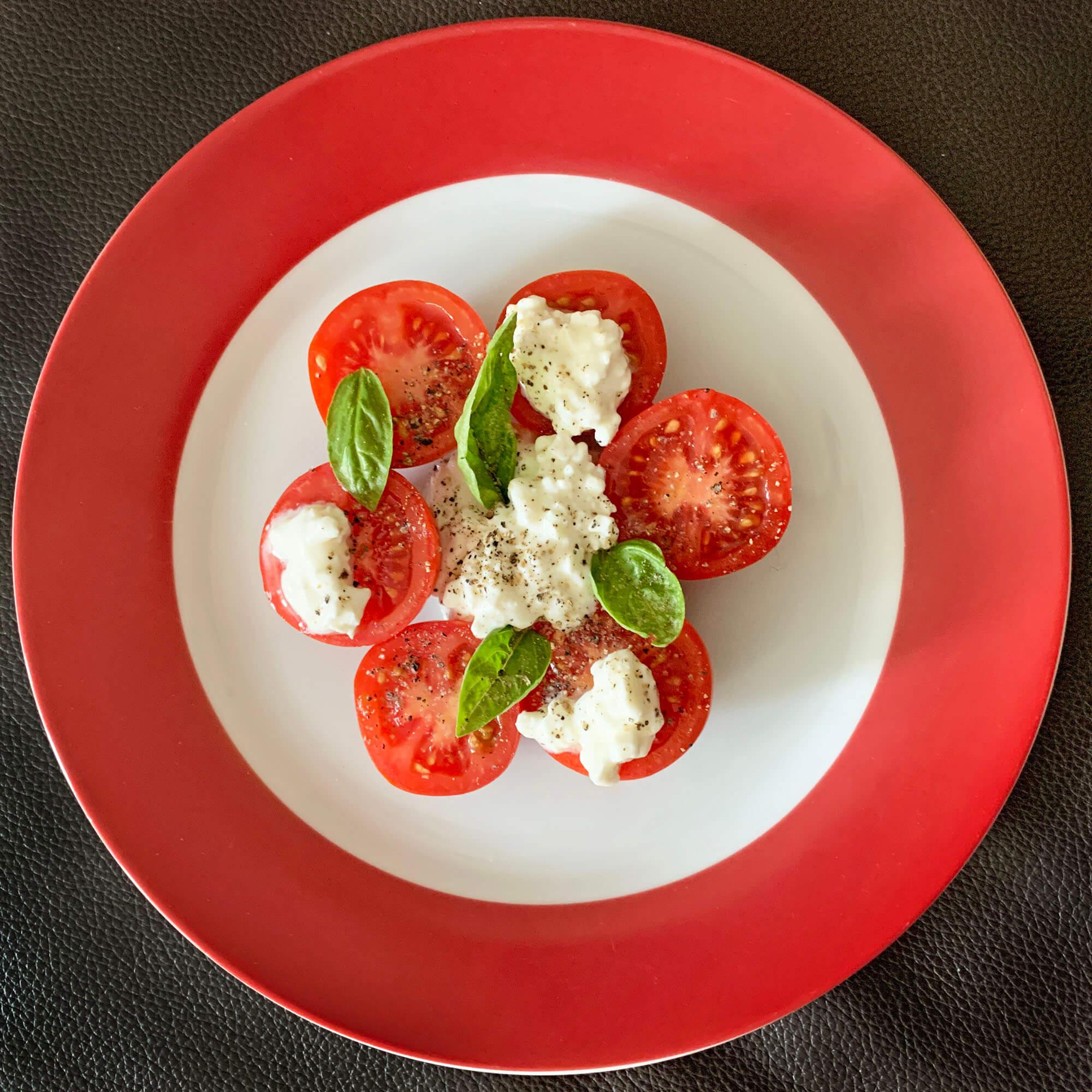 32 Tomate-Frischkäse-Basilikum (anonym) #tagdernachbarn