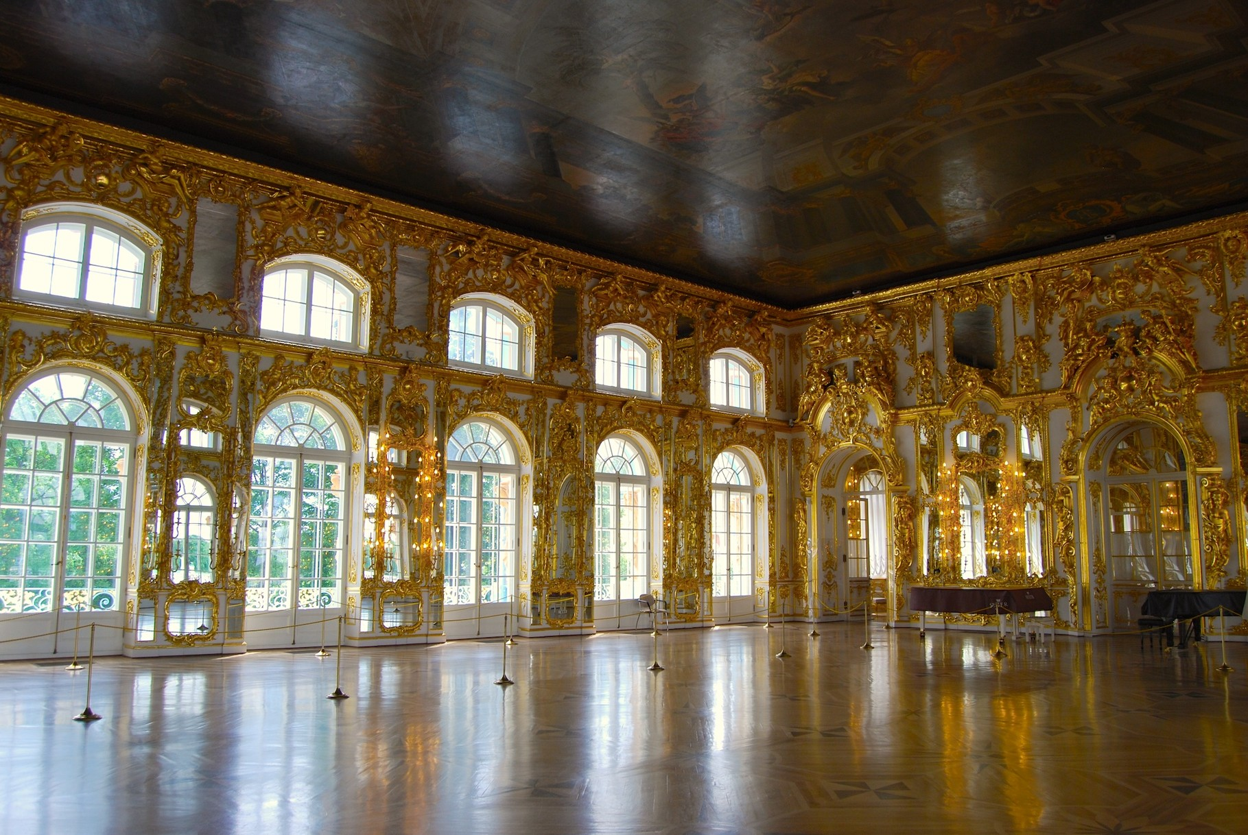 Saal im Ekaterinenpalast in Pushkin