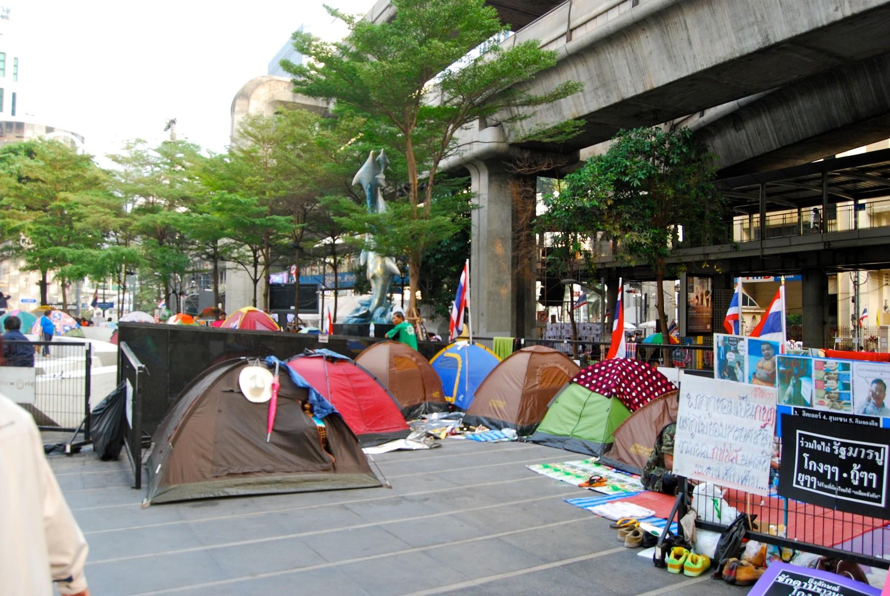 Proteste in Bangkok - vorm Central World