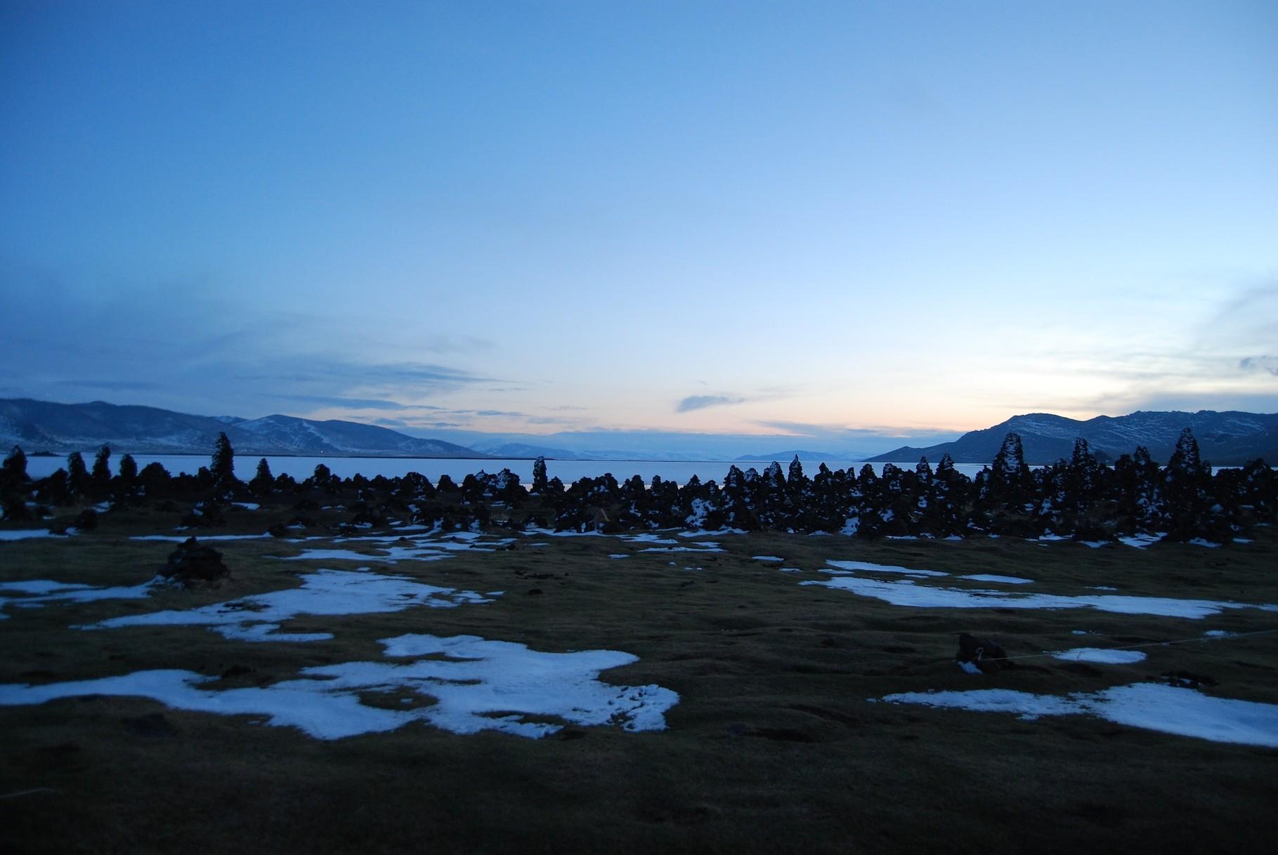 Sonnenuntergang am Weißen Seen