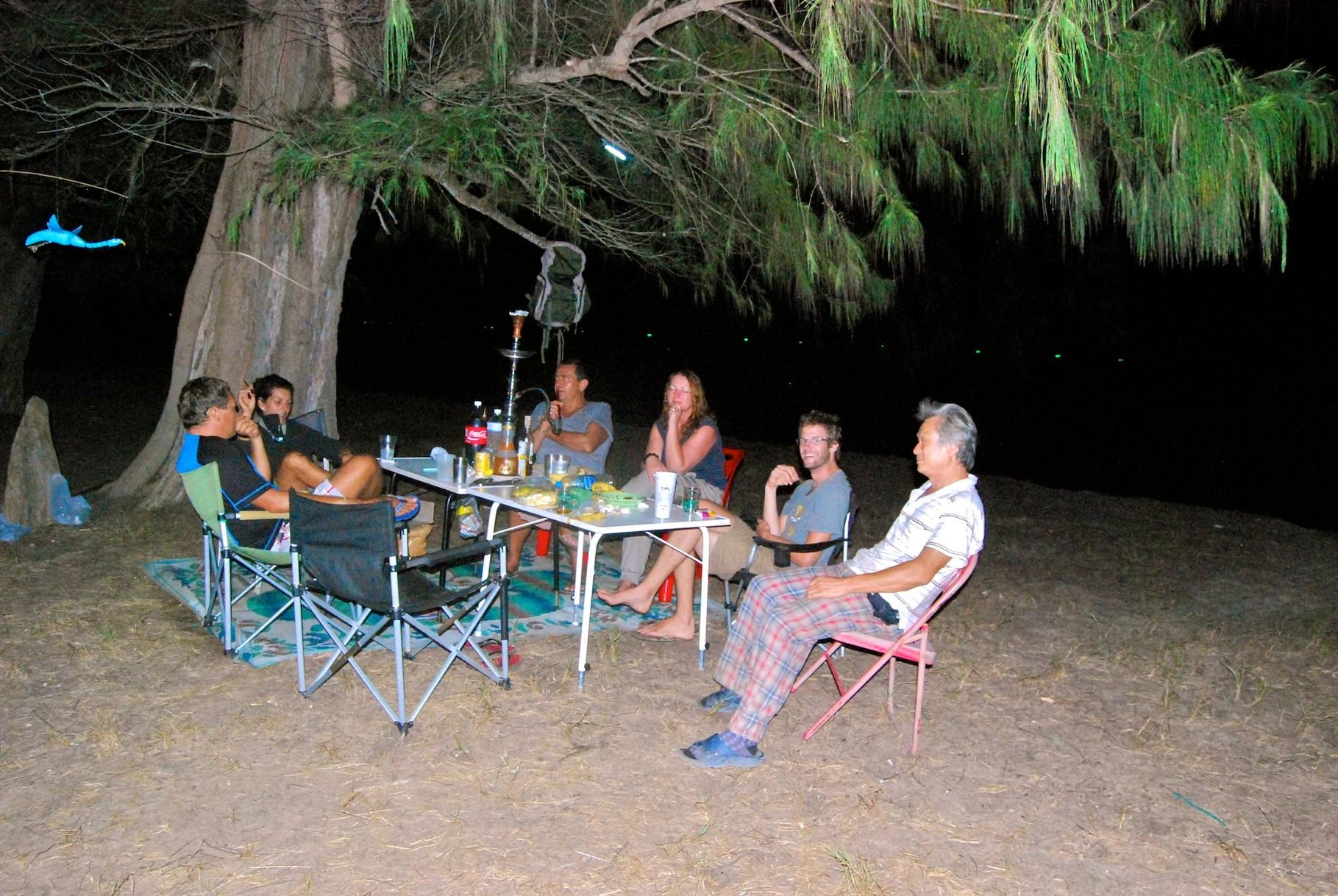 Mit Verena, Wolfi, Brigitte, Mike und Anand