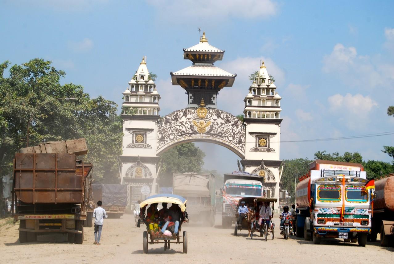 (vermutlich) die nepalische Grenze