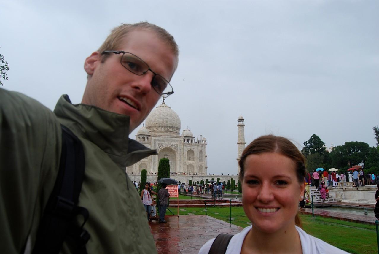 Selbstaufnahme vorm Taj Mahal