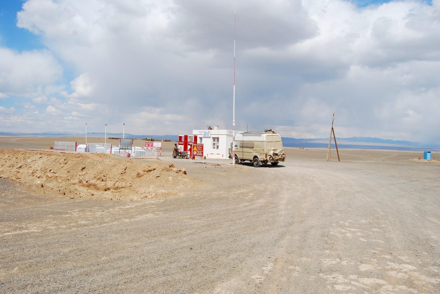 Eine typisch mongolische Tankstelle