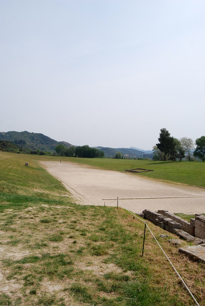 Olympia Stadion (ganz am Ende steht David)