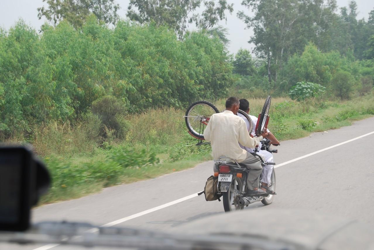 Fahrradtransport a la India