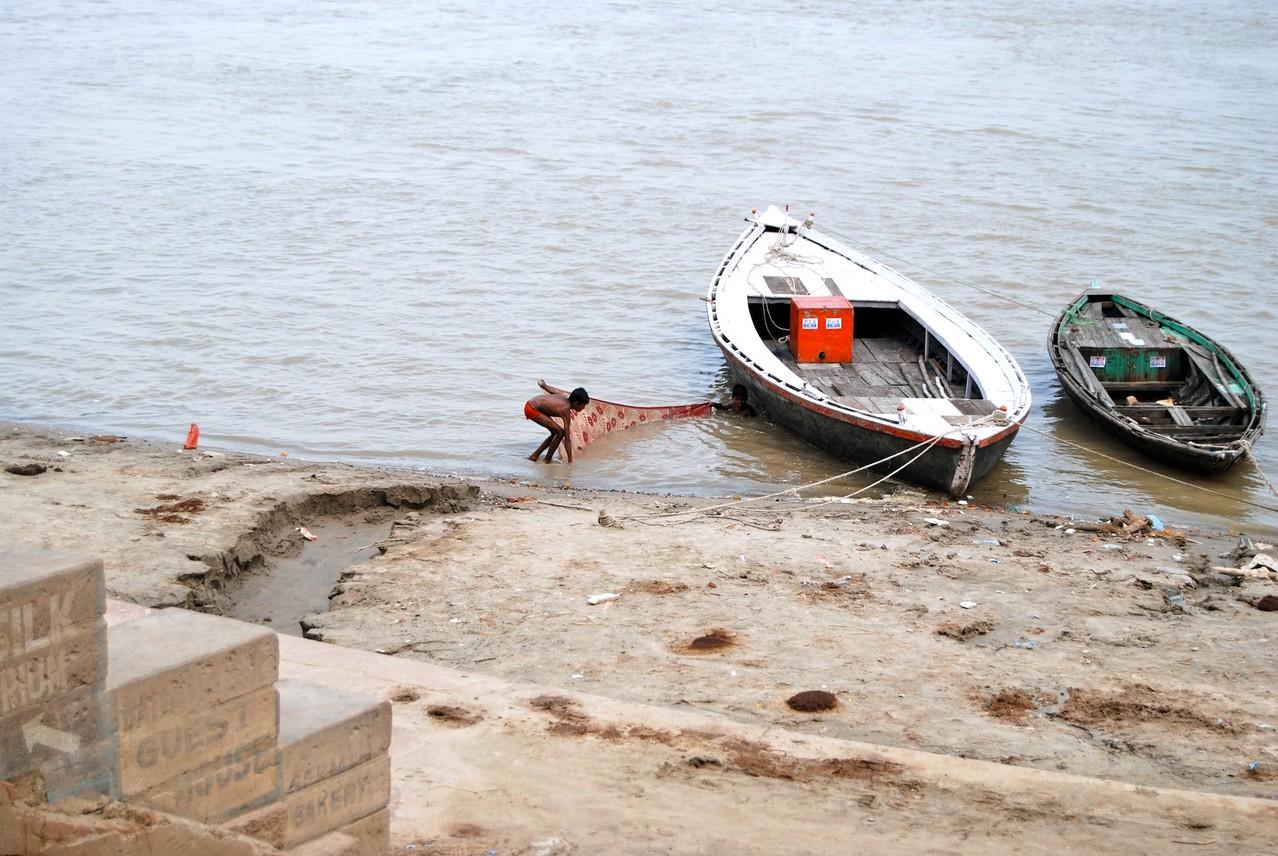 Fischen am Ganges