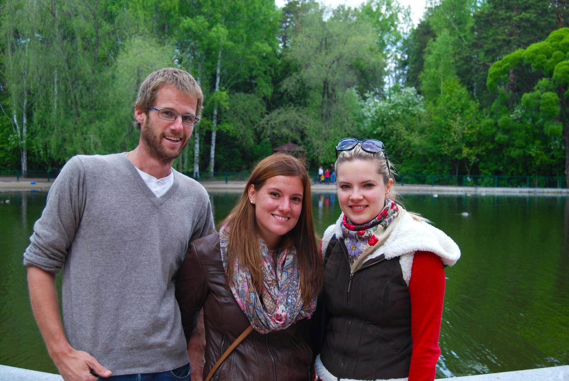 Ira, David und ich im Zoo