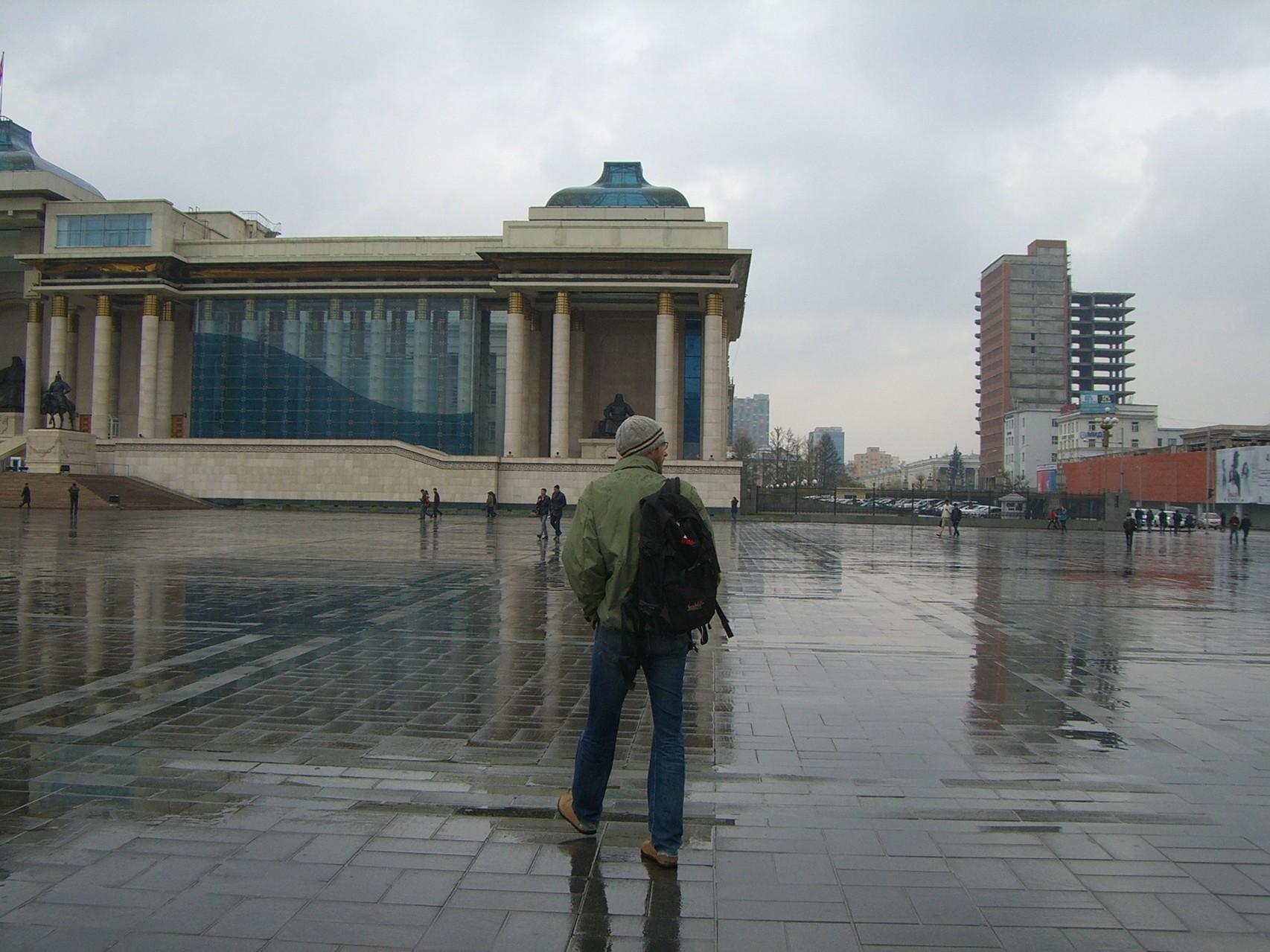 David vorm mongolischen Parlament