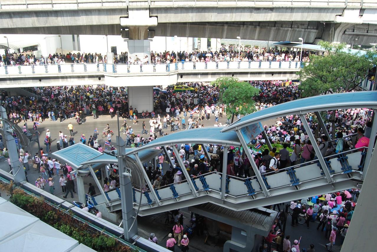Der Mob am Siam Square