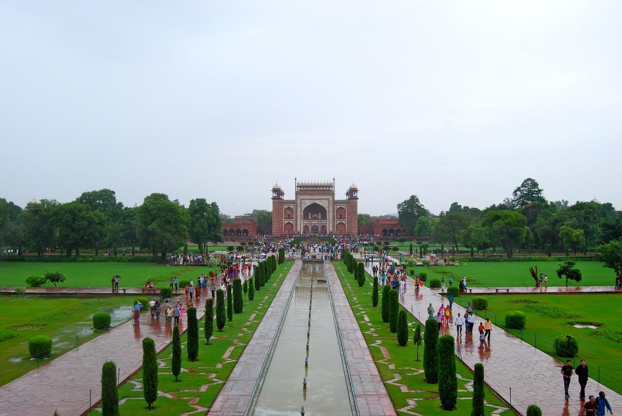 Garten des Taj Mahals