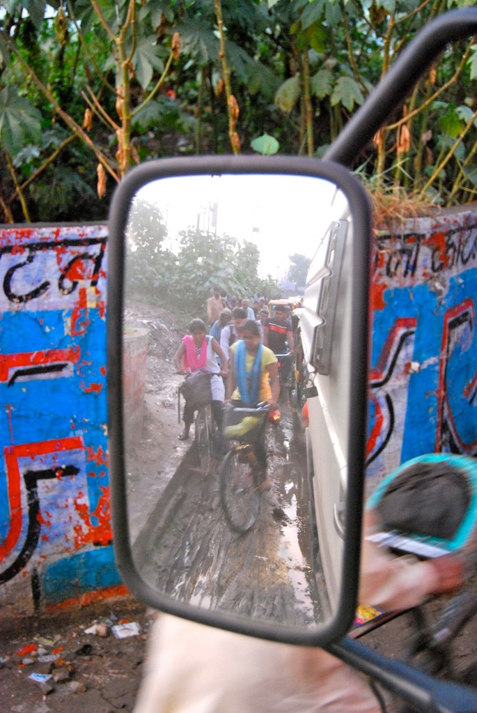 Verkehrschaos in Varanasi