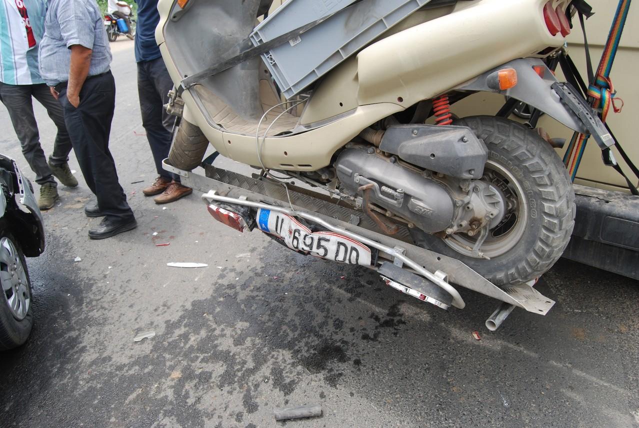 Unser armer Mopedträger