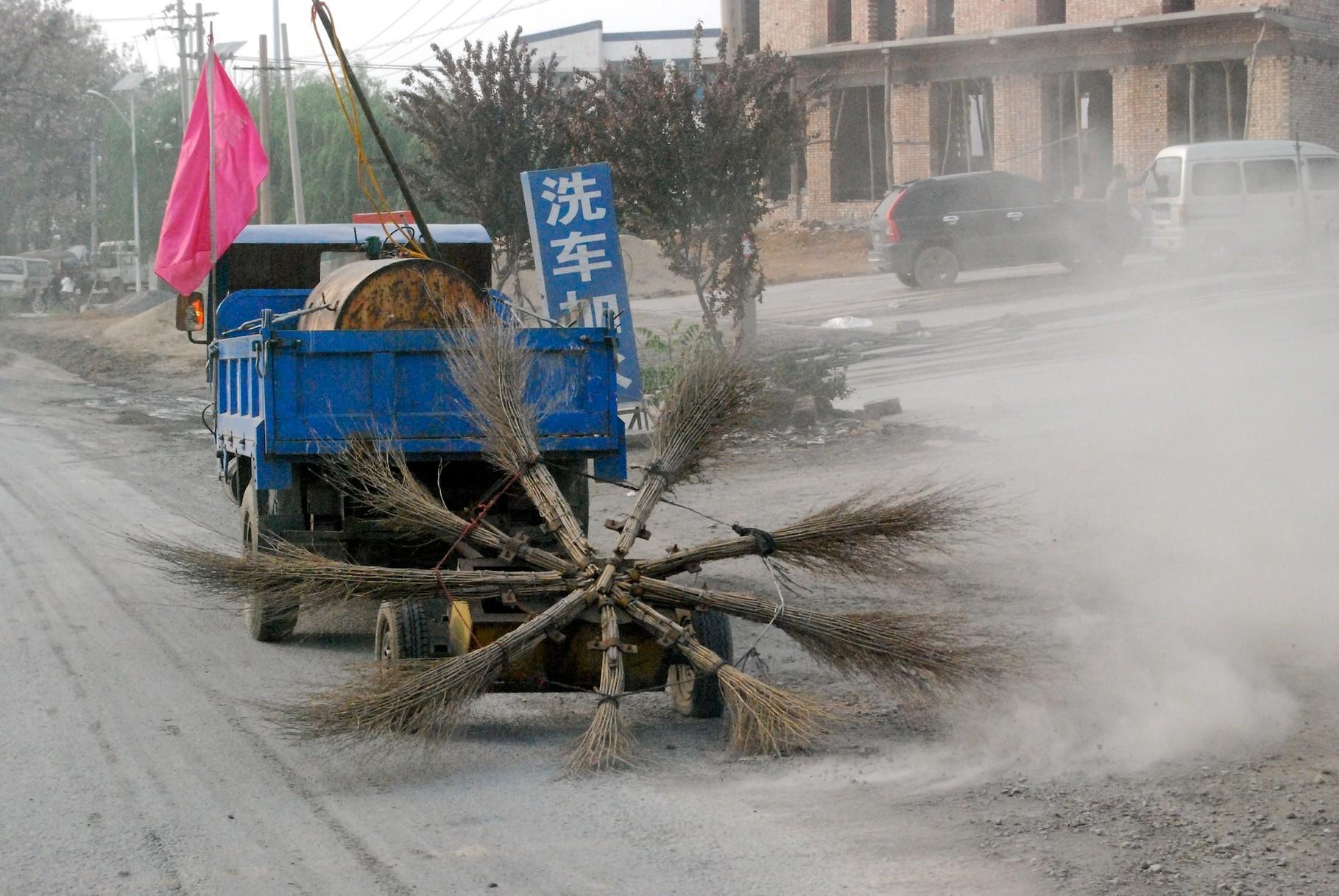 Straßenkehrmaschine auf chinesisch