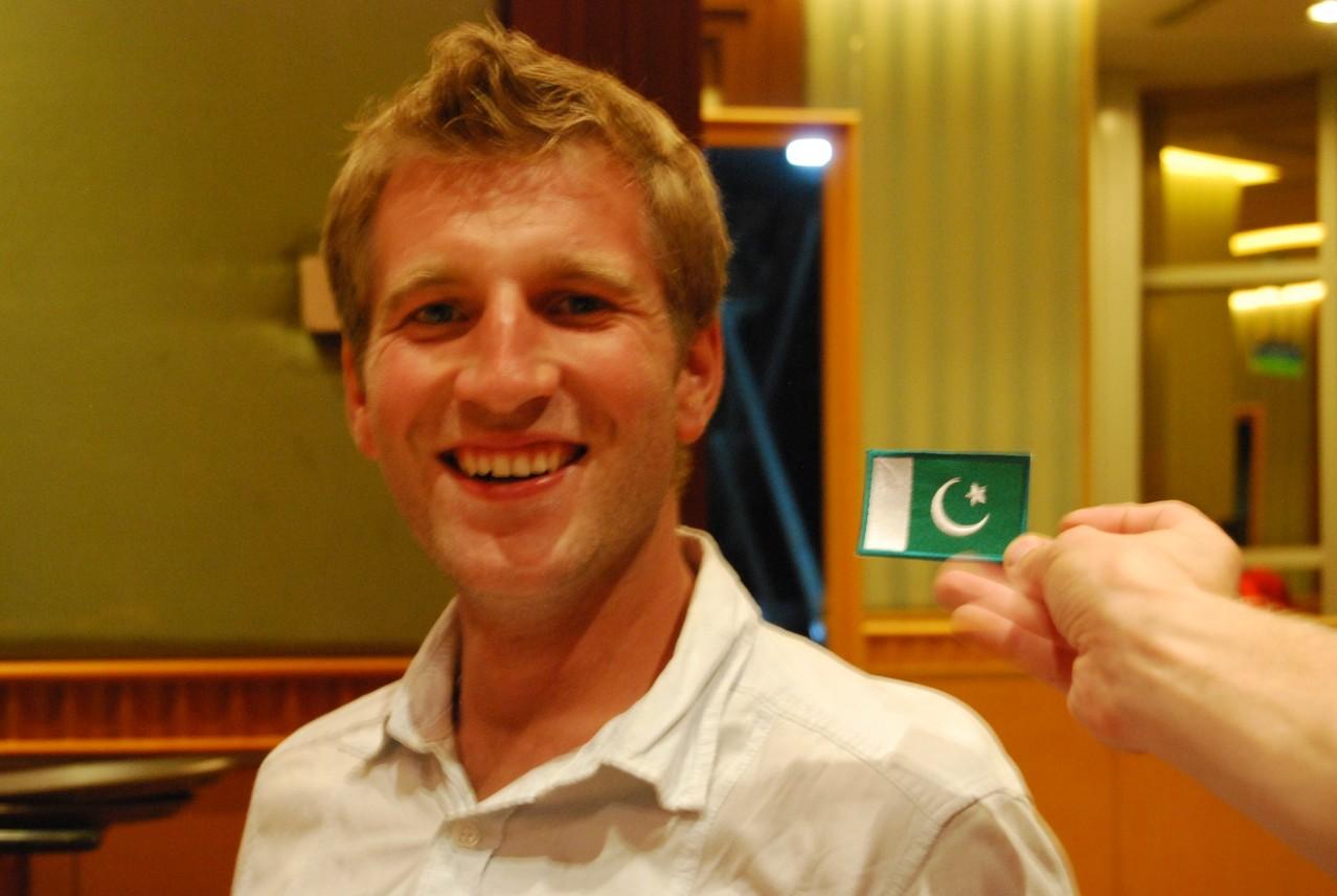 Von Markus und Sonja haben wir ein tolles Geschenk bekommen: eine Pakistan-Flagge :)