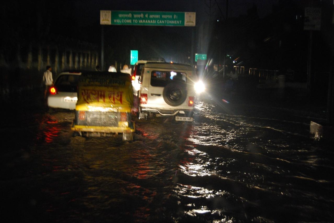 Überschwemmung in Varanasi