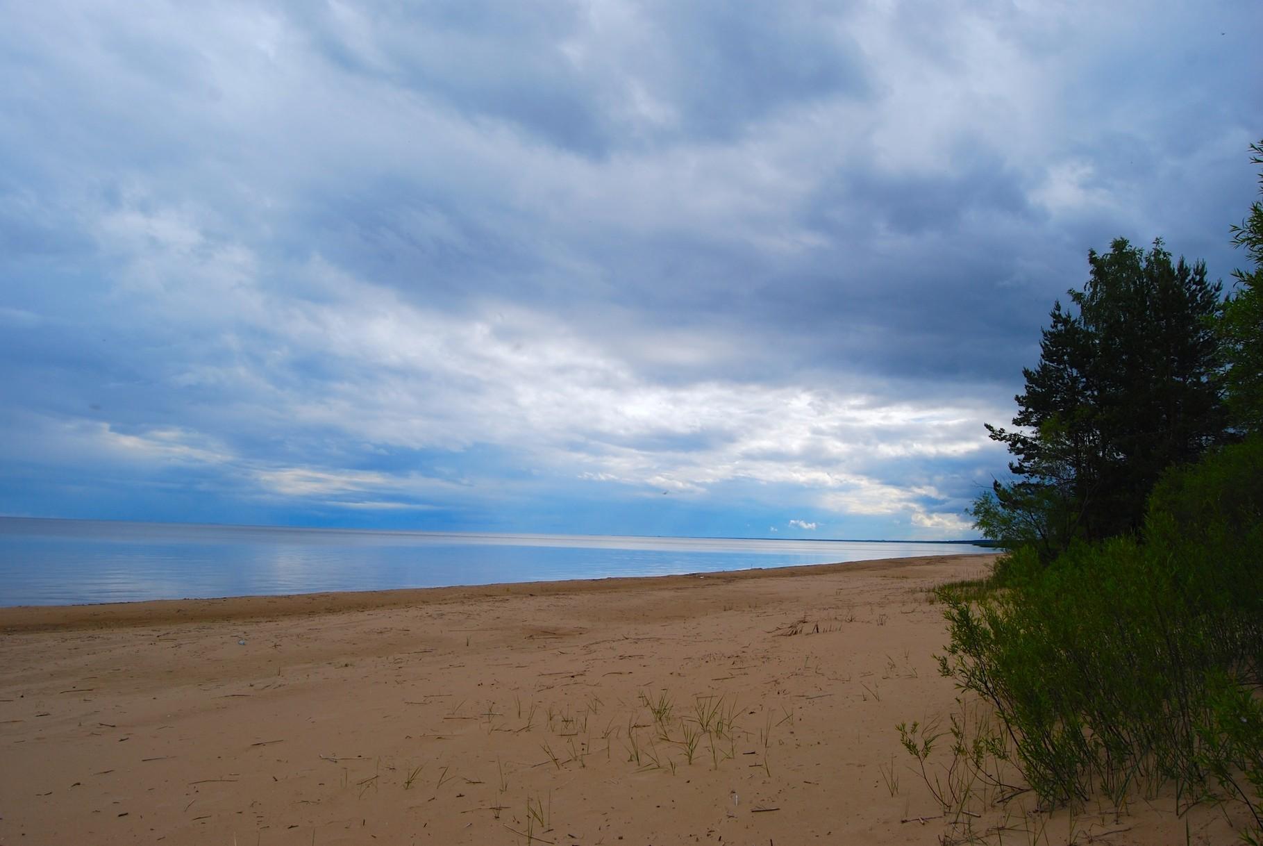 Der Peipsi See mit Blick auf Russland