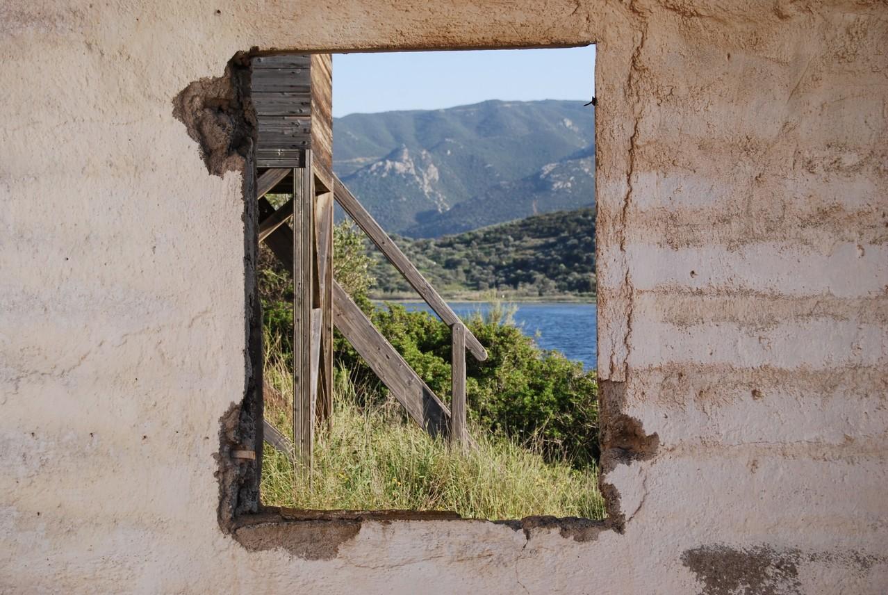 Ruine im Vogelschutzgebiet bei Kalloni